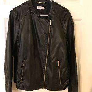 Black vinyl leather jacket-Calvin Klein